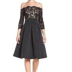 Eliza J semi-formal dress w/ lace bodice